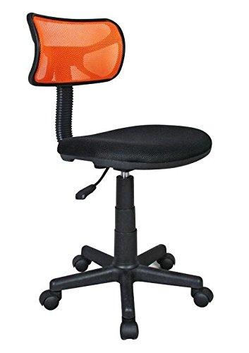 Basic Mesh Task Chair with Adjustable Seat Back Color: Orange
