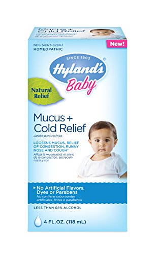 Relief Syrup Cold - Hyland's Baby Mucus + Cold Relief, Natural Relief of Congestion, Runny Nose & Cough 4 Ounces