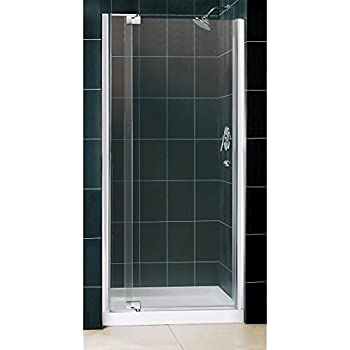 DreamLine Allure 36 in. D x 36 in. W Kit, with Pivot Shower Door in Chrome and Center Drain White Acrylic Base