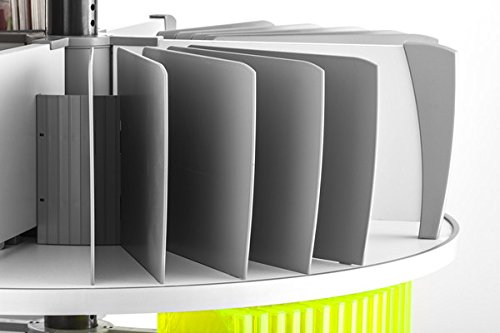 (Moll Organizer Set for Deluxe Binder & File Carousel Shelving, Dark Gray (CLOS))