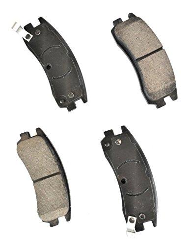 Metro Friction G1-0847 TOPEX Quiet Advanced G1 Series Ceramic Formula Disc Brake Pad Set Front