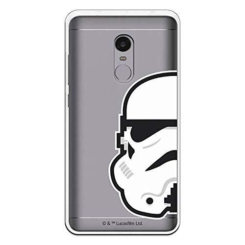 Carcasa Oficial Star Wars Stormtrooper Transparente Xiaomi Redmi Note 4 La Casa de Las Carcasas