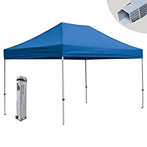 New Eurmax 10X15 Pop Up Commercial Canopy Tent Gazebo With Wheeled Bag,Color Red