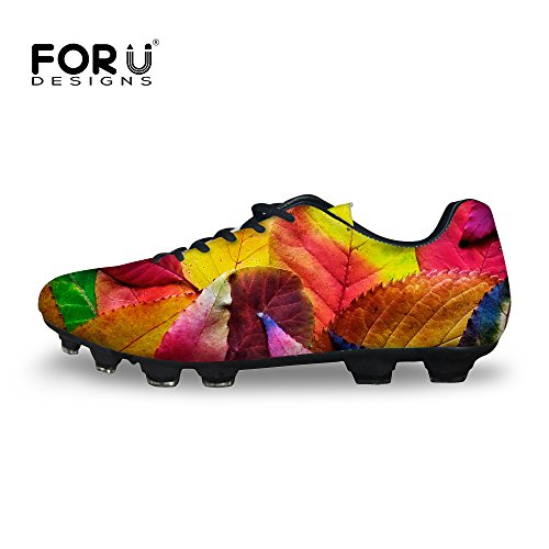 Shoes Fg Wearable Cleat Men's Soccer 2 U DESIGNS Low Top Lightweight FOR Sport Leaves xTw4qPXB