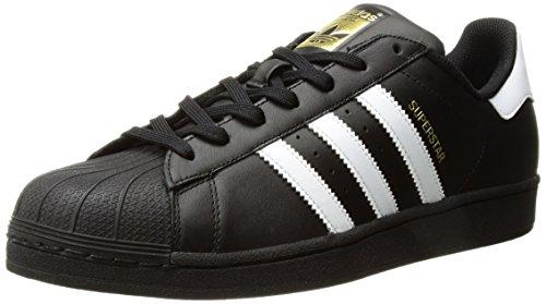 adidas Originals Men's Superstar Foundation Casual Sneaker, Black/White/Black, 10.5 D(M) US