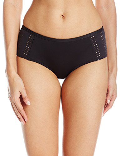 - RVCA Women's My Tide Boyshort Bikini Bottom, Black, L