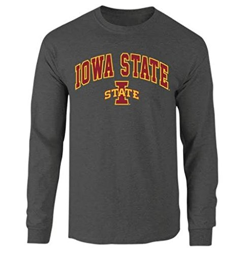 Iowa State Cyclones Long Sleeve Tshirt Arch Charcoal - XL
