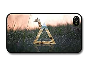 Hipster Triangle in Funny Cute Giraffe Artwork Stylish case for iPhone 4 4S