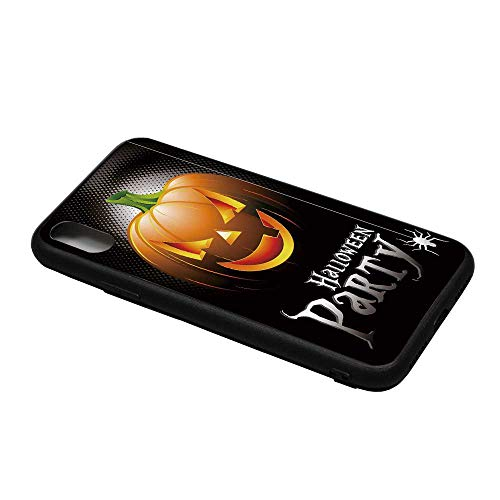 Halloween Printing Compatible with iPhone X Case,Halloween Party Theme Scary Pumpkin on Abstract Modern Backdrop Spider Decorative for iPhone X Case,iPhone X -