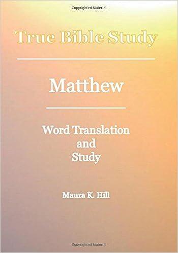 Book True Bible Study - Matthew