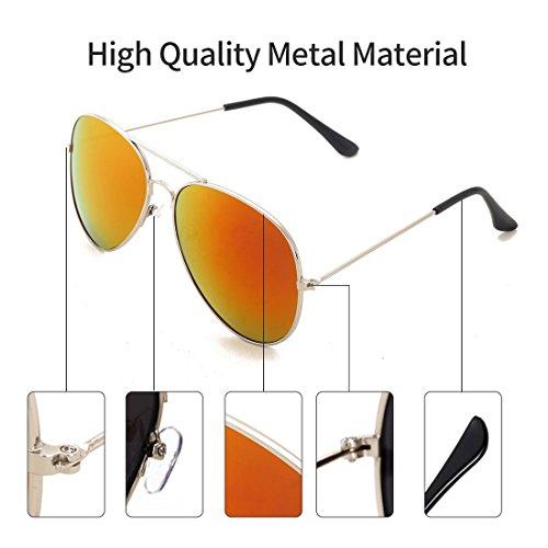 de Protección con polarizado de Aviador UV el Hombre caso 400 4sold Black sol conducción Black gafas Xn4YwxO