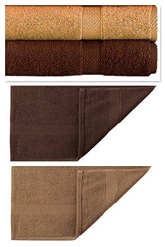 Egeria Diamante Juego de toallas de rizo, 10 piezas) L marrón L 531 Sahara