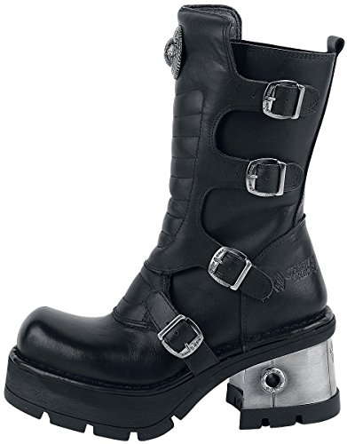 S3 Leather New Boots Negro M Womens 373QX Rock ggaA4x