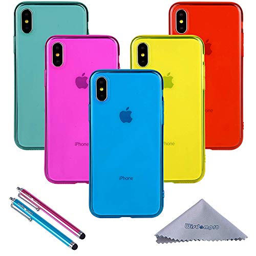 33b9c0217c6 iPhone Xs/X Case, Wisdompro® Bundle of 5 Pack [Extra Thin]