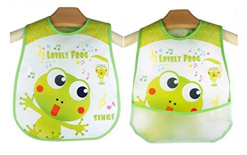 [Baby Bibs Lovely Frog Waterproof Lunch Infants Cartoon Pattern Bibs Burp Cloths For Children Self Feeding] (Infant Racing Halloween Costume)
