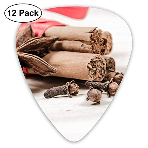 - Anice Aromatic Christmas Cinnamon Red Spices Bendy Ultra Thin 0.46 Med 0.73 Thick 0.96mm 4 Pieces Each Base Prime Plastic Jazz Mandolin Bass Ukelele Guitar Pick Plectrum Display