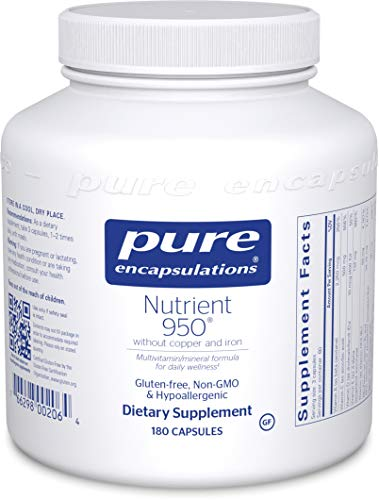 Pure Encapsulations - Nutrient 950 without Copper & Iron - Hypoallergenic Multi-vitamin/Mineral Formula for Optimal Health* - 180 Capsules