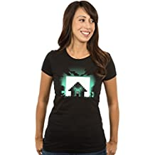 JINX Minecraft Women's Glow-In-The-Dark Survival Premium Cotton T-Shirt