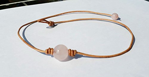 Rose quartz choker necklaces,stone necklaces,women necklaces