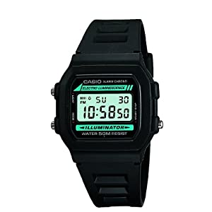 Casio Men's Digital Watch with Resin Strap W-86-1VQES