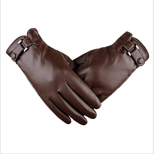 nICE Winter Thickening Plus Velvet Warm Leather Gloves Point Finger Windproof Waterproof Touch Screen Set Cycling Motorcycle Cold Warm Gloves