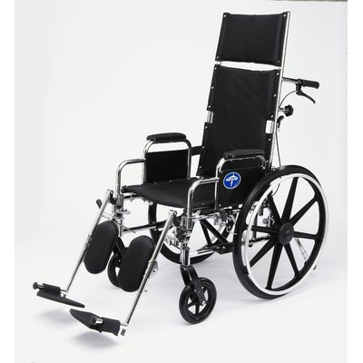 """Excel Reclining Bariatric Wheelchair Seat Size: 18"""" W x 17"""" D (Standard)"""