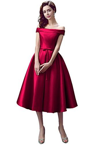 Polpaccio Duraplast Donne Da Sera Dimensioni Convenzionale Delle Abito Rosso Scuro Vestito Più gqwSI4pgY