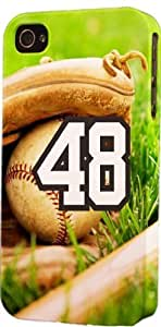 Baseball Sports Fan Player Number 48 Plastic Snap On Decorative iphone 5s Case