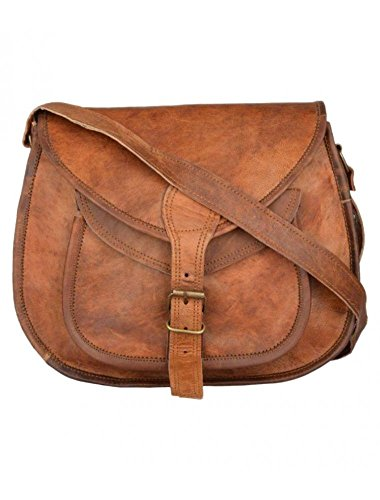 CraftShades WoAdults Handcrafted Leather Sling Side Bag One Size Brown