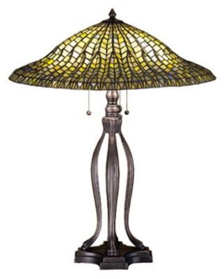 (Meyda Tiffany Tiffany Lotus Leaf 30 H Table Lamp with Bowl Shade)