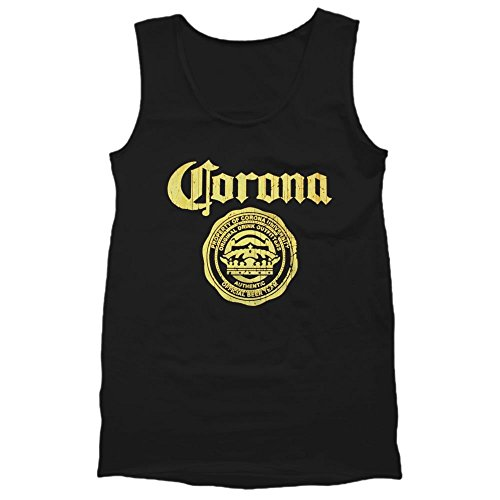 CORONA BEER LOGO Men's Tank Top shirt (2X-Large, Black)