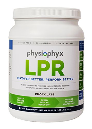 PhysioPhyx LPR Premium Endurance Recovery Formula - Grass Fed Whey Protein Isolate - Muscle Repair and Recovery - Athlete Tested, Athlete Approved - Chocolate Workout Drink Mix