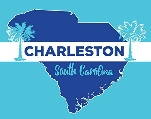 (R and R Imports Charleston South Carolina State Shape Trendy Summer Souvenir 5