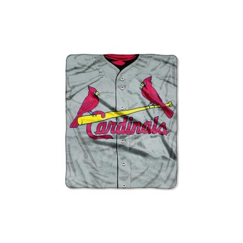 The Northwest Company MLB St. Louis Cardinals Jersey Plush Raschel Throw, 50
