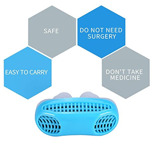 Snoring Solution, Anti Snoring Devices Snore Stopper, Stop Snoring, Best Airing Air Purifier Nose Vents Nasal Dilator, to Give You a Good Night's Sleep (blue) by SIYU (Image #6)