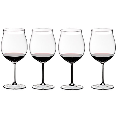 Riedel Sommeliers Leaded Crystal Burgundy Grand Cru Wine Glass, Set of 4 ()