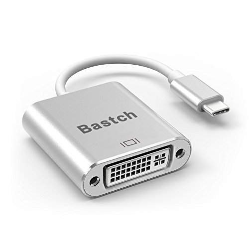 USB C TO DVI Adapter,Bastch USB 3.1 Type C (USB-C) to DVI Adapter With Aluminium Case for 2017 MacBook Pro/Samsung Galaxy S8 by Bastch