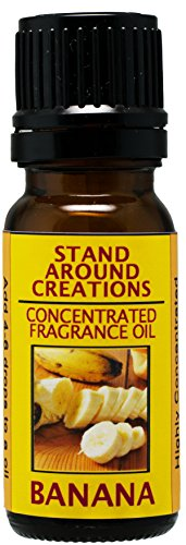 (Concentrated Fragrance Oil - Banana : A true, fresh, ripe banana scent.Infused w/essential oils.(.33)