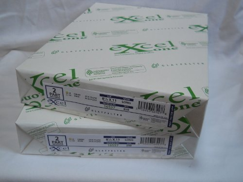 Carbonless Paper 2-part 1 Ream / 500 Sheets (250 Sets) Bright White / Canary 8 1/2 X 11 by Excel Glatfelter (Paper Carbonless Ncr)