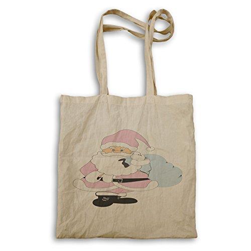 p470r Pink Pink Tote bag Santa p470r bag Claus Claus Xmas Tote Xmas Santa nU8xF8Bq7g