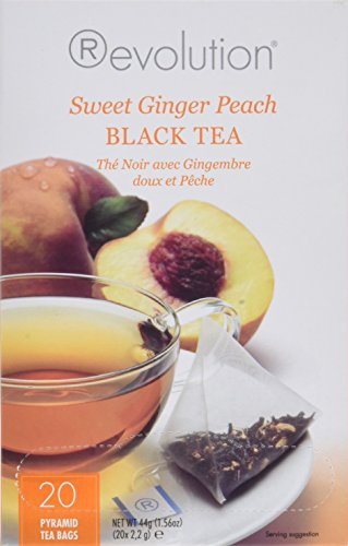 Revolution Tea Sweet Ginger Peach Black Tea, 20 Count, 1.56 - Ginger Peach Tea Black