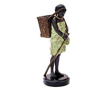 Deko Figur Mädchen Mit Korb Dekofigur Frau Skulptur Statue Für ...