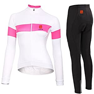 Women Long Sleeve Full Zip 4D Padded Breathable Outdoor Bicycle Cycling Jersey