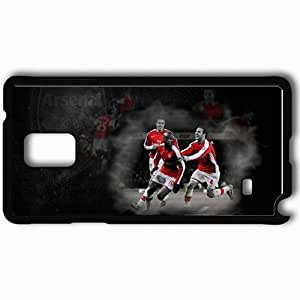Personalized Samsung Note 4 Cell phone Case/Cover Skin Arsenal William Gallas Robin Van Persie Cesc Fabregas Arsenal Football Black