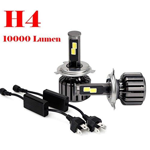Car Headlight Bulb - Jushye 2016 NEW H4 9003 HB2 120W 10000LM LED Headlight Kit Hi/Lo Beam Bulbs 6000K , 1 Pair Led Headlight(With retail box) (Chameleon Outdoor Wall Bracket)
