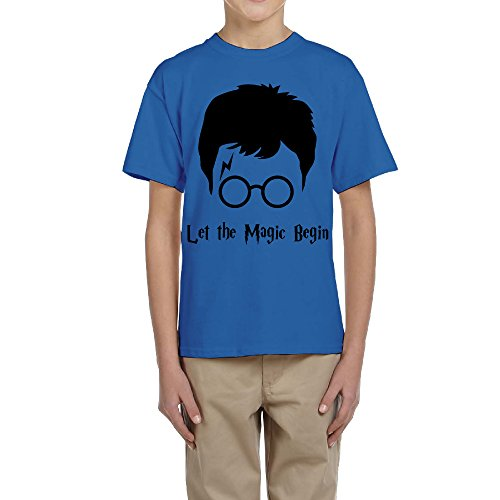 Price comparison product image ^GinaR^ Youth Harry Potter New Design Preppy Tees M RoyalBlue