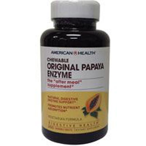 (American Health, Enzyme Plus Super Papaya, 100 Count)