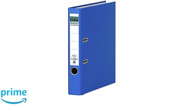 Elba Rado Chic 100022753 - Archivador palanca en PVC, Fº, color azul oscuro: Amazon.es: Oficina y papelería