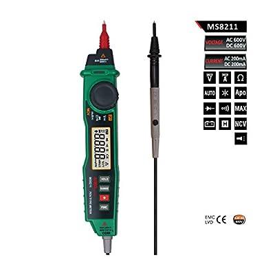 Aimometer MS8211 Digital Pen Type Multimeter Multitester Handheld Meter DMM Non-contact Voltage NCV Detector 1 YEAR WARRANTY
