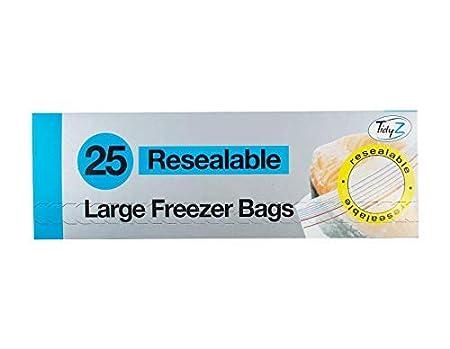 Tidyz 25 Bolsas de congelación Grandes resellables: Amazon.es: Hogar